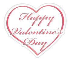 Valentines Day Vector Symbol Illustration Isolated On A White Background