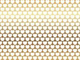 Valentines Day Seamless Vector Background Illustration With White Heart Pattern On A Reflective Gold Background