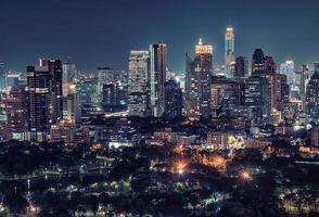 Bangkok city panorama in the evening photo