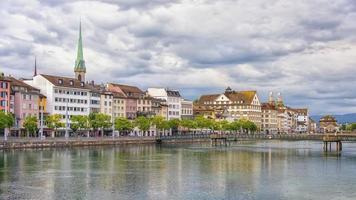 Zurich city in the daytime   Switzerland photo
