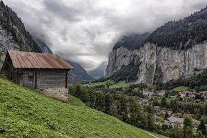 Lauterbrunnen valley in Switzerland photo