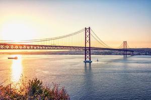 25 de Abril Bridge in Lisbon   Portugal photo