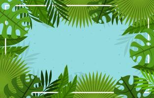Floral Summer Tropical Background vector