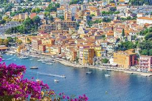 Villefranche Sur Mer in France    Holiday beach on the French Riviera photo