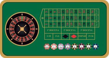 European roulette vector illustration