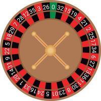 vector de ruleta europea de casino