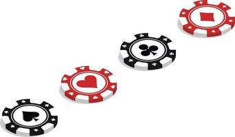 poker chips placed diagonally vector