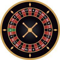 casino ruleta europea vector negro y dorado