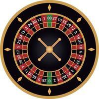casino ruleta americana vector negro y dorado
