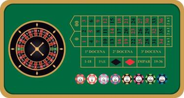 American roulette vector illustration