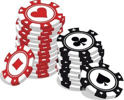 lots of poker chips vector