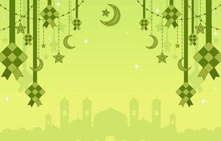 Ketupat Background with Stars vector