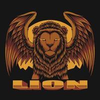 Lion wing vector illustration