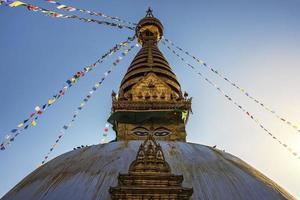 Swayambhunath temple in Kathmandu photo