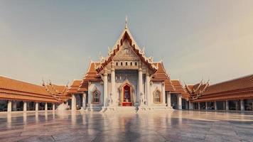 Templo de mármol en Bangkok foto