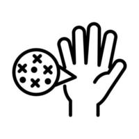 personal hand hygiene hand virus disease spread prevention and health care line style icon vector