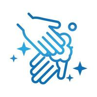 personal hand hygiene hands foam disease prevention and health care gradient style icon vector