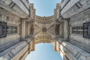 Rua Augusta Arch in Lisbon photo