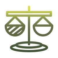 Diseño de vector de icono de estilo degradado de escala de ley aislada