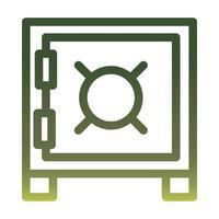strongbox gradient style icon vector design