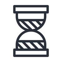 Diseño de vector de icono de estilo de línea de reloj de arena aislado de arena