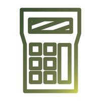 Isolated calculator gradient style icon vector design