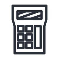 Isolated calculator line style icon vector design