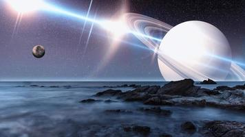 Artist view of an alien landscape photo