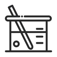 beaker glass sample laboratory science and research line style icon vector