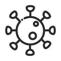 coronavirus covid 19 pathogen laboratory science and research line style icon vector