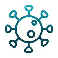 coronavirus covid 19 pathogen laboratory science and research gradient style icon vector