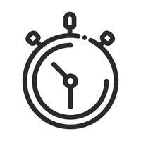 cronómetro tiempo velocidad ciencia e investigación icono de estilo de línea vector