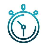 cronómetro tiempo velocidad ciencia e investigación icono de estilo degradado vector