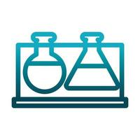 test tube beaker chemical laboratory science and research gradient style icon vector