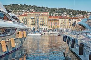 Harbor in the city of Nice France photo