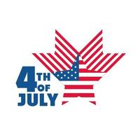 4th of july independence day american flag star country celebration flat style icon vector