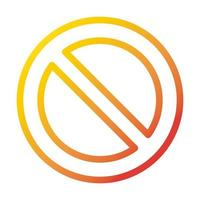 prohibited sign internet web technology interface gradient style icon vector