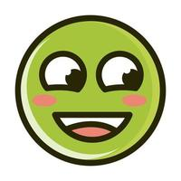 flushed face funny smiley emoticon expression line and fill icon vector
