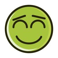 close eyes funny smiley emoticon face expression line and fill icon vector
