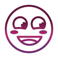 flushed face funny smiley emoticon expression gradient style icon vector