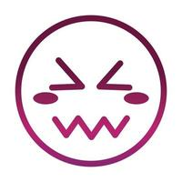 confounded funny smiley emoticon face expression gradient style icon vector