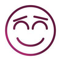 close eyes funny smiley emoticon face expression gradient style icon vector