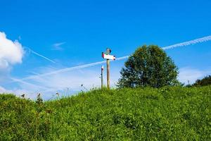 señal de ruta de senderismo foto