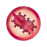 prohibited disease respiratory pandemic stop coronavirus covid 19 vector