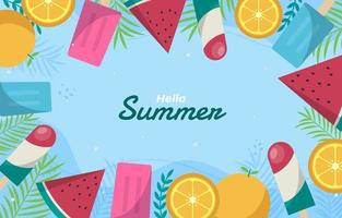 Summer sweets background vector