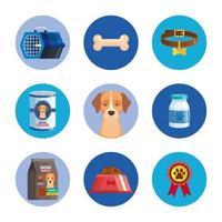 conjunto de iconos de perro animal vector