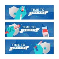 Set of COVID 19 Banner Sets vector