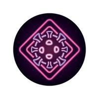 covid 19 coronavirus pandemic infection disease danger virus neon style icon vector