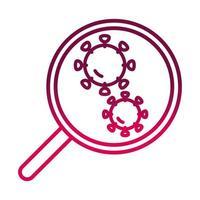 virus illness science prevent spread of covid19 gradient icon vector