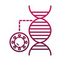 coronavirus molecule disease prevent spread of covid19 gradient icon vector